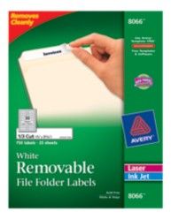 Removable File Folder Labels