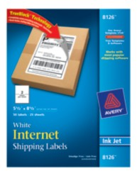 Avery Shipping Labels 8126 Packaging Image