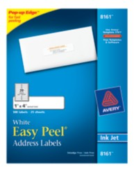 Avery Easy Peel White Address Labels 8161 Packaging Image