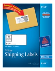Avery Shipping Labels 8163 Packaging Image
