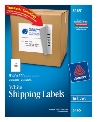 White Shipping Labels 8165
