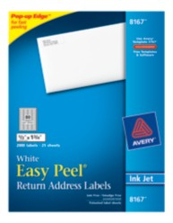 Avery Easy Peel White Return Address Labels 8167 Packaging Image