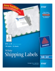 Avery Shipping Labels 8168 Packaging Image
