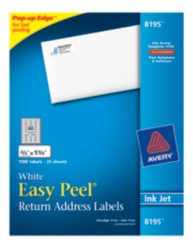 Avery Easy Peel White Return Address Labels 8195 Packaging Image