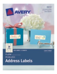 Avery® Pearlized Address Labels 08215, Packaging Image