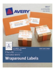 Avery® Textured White Wraparound Labels 08217, Packaging Image