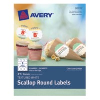 avery 2 round label template - home organization labels avery textured white scallop