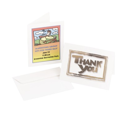 Ink Jet White Matte Note Cards 8315
