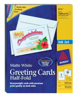 Ink Jet Half-Fold Greeting Cards 8316