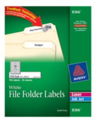 Avery File Folder Labels 8366 Package Image