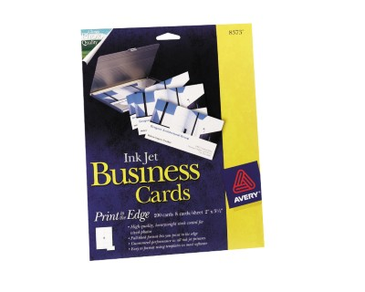 Ink Jet Print-to-the-Edge Business Cards 8373