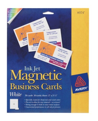 Ink Jet Magnetic Business Cards 8374