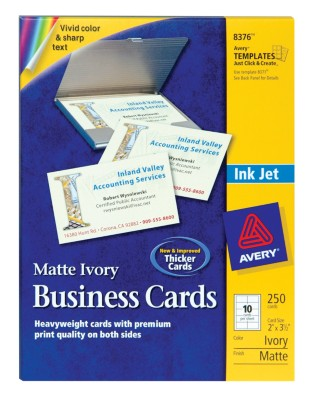 Ink Jet Business Cards 8376