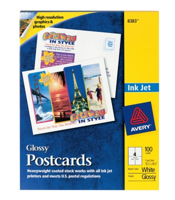 Ink Jet Glossy Postcards 8383