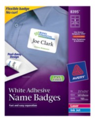 Avery Self-Adhesive Removable Name Badge Labels 8395 Packaging Image