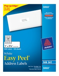 Avery Easy Peel White Address Labels 8460 Packaging Image