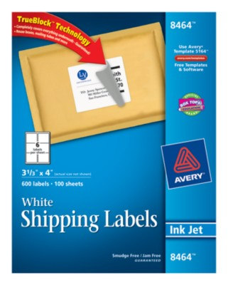 White Shipping Labels 8464