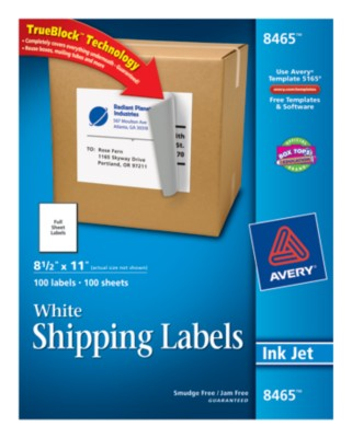 White Shipping Labels 8465