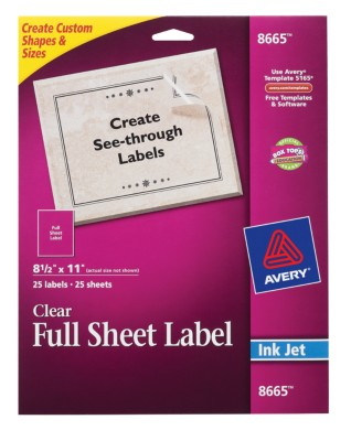 Clear Mailing Labels 8665