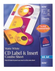 Avery CD Label & Insert Sheet Combo