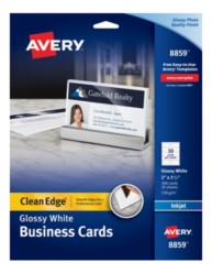 Avery Two-Side Printable Clean Edge Business Cards 8859 Packaging Image