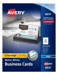 Avery Business Cards 8870 Packaging Image