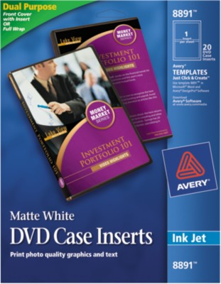 Avery DVD Case Inserts 8891