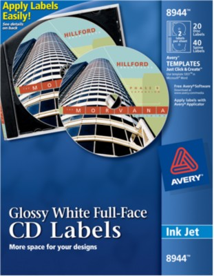 Avery Full-Face CD Labels 8944