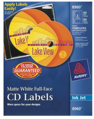 Avery Full-Face CD Labels 8960