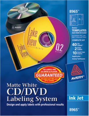 Avery CD/DVD Labeling System 8965