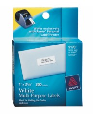 "PLP White Multi-purpose Lbl Roll 1"" x 2 5/8"""