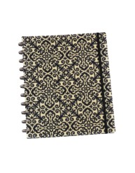 Martha Stewart Home Office™ with Avery™  Discbound Customizable Notebook 10047, Black and White Brocade, Application Image