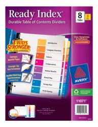 Avery 11071 Ready Index Divder Packaging Image