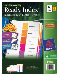 Avery EcoFriendly Ready Index Dividers 11080 Packaging Image