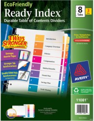 Avery EcoFriendly Ready Index Dividers 11081 Packaging Image