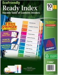 Avery EcoFriendly Ready Index Dividers 11082 Packaging Image
