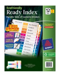 Avery EcoFriendly Ready Index Dividers 11083 Packaging Image