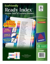 Avery EcoFriendly Ready Index Dividers 11084 Packaging Image
