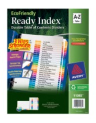 Avery EcoFriendly Ready Index Dividers 11085 Packaging Image