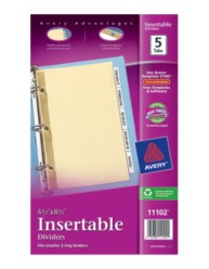 "WorkSaver 5 1/2"" x 8 1/2"" Insertable Tab Dividers Packaging Image"
