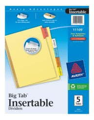 Avery® WorkSaver® Big Tab™ Insertable Dividers 11109, Packaging Image