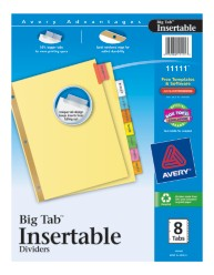 Avery® WorkSaver® Big Tab™ Insertable Dividers 11111, Packaging Image