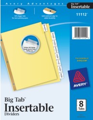 Worksaver big tab insertable dividers with buff paper for Office depot divider templates