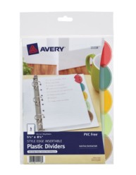 Avery® Style Edge Insertable Plastic Dividers 11118, Packaging Image
