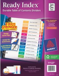 Avery 11127 Ready Index Divder Packaging Image