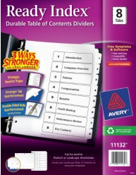 Avery 11132 Ready Index Divder Packaging Image