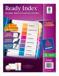 Avery 11133 Ready Index Divder Packaging Image
