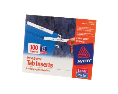 Tab Inserts for Hanging File Folders 11137