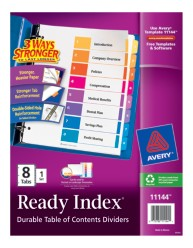 Avery Ready Index Table of Contents Dividers 11144, Packaging Image