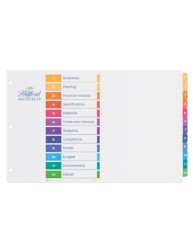 Avery® Ready Index® Table of Contents Dividers 11149, Application Image